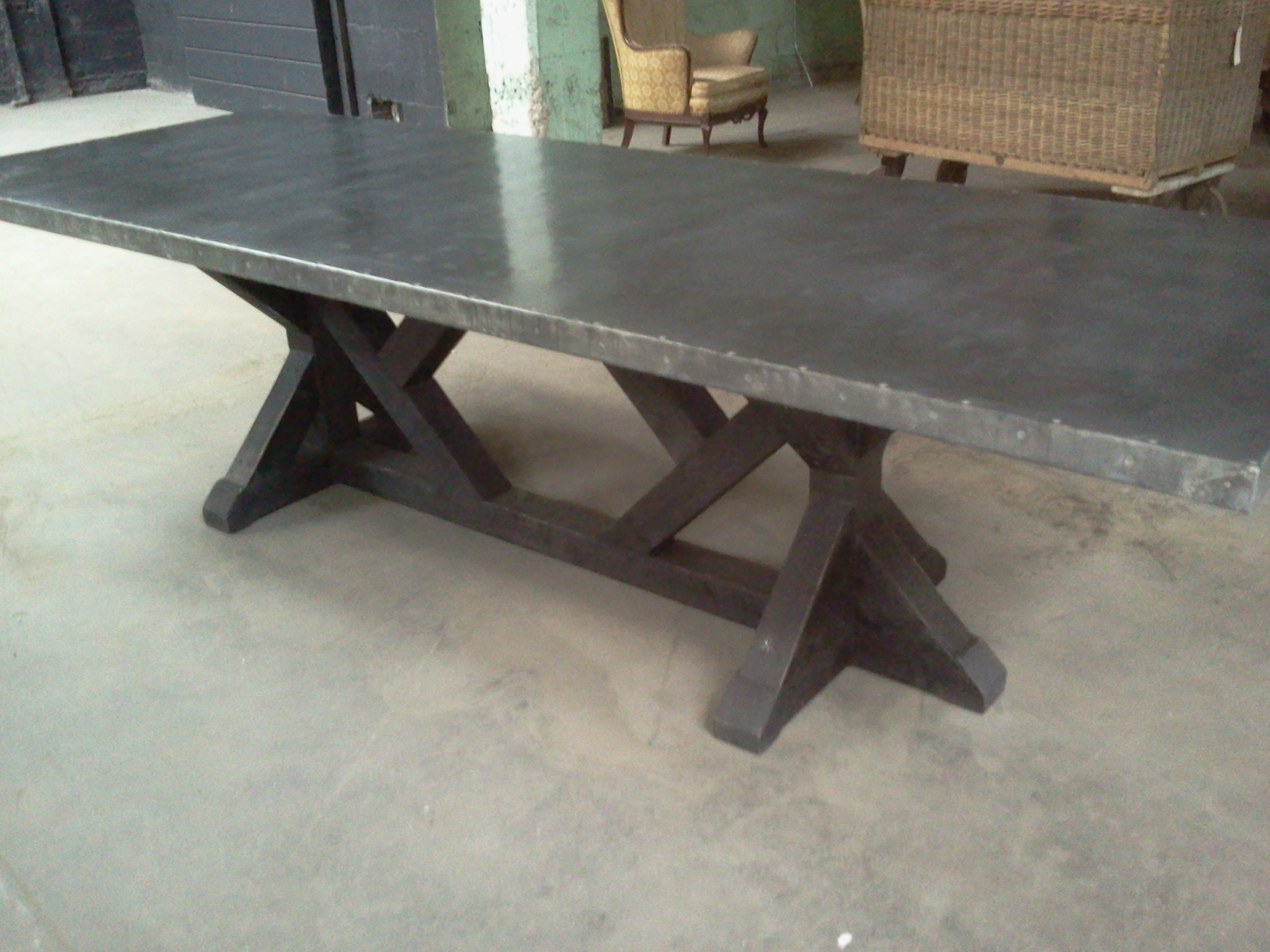Giant Zinc Top Table Davelennard Com