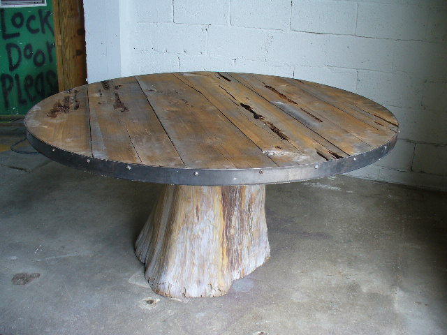 Large Round Cedar Table Davelennardcom - Cypress stump coffee table